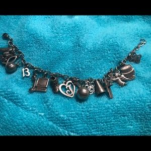 James Avery charm bracelet with 18 charms